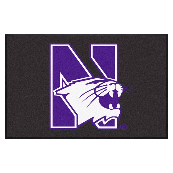 Picture of Northwestern4X6 High-Traffic Mat with Durable Rubber Backing