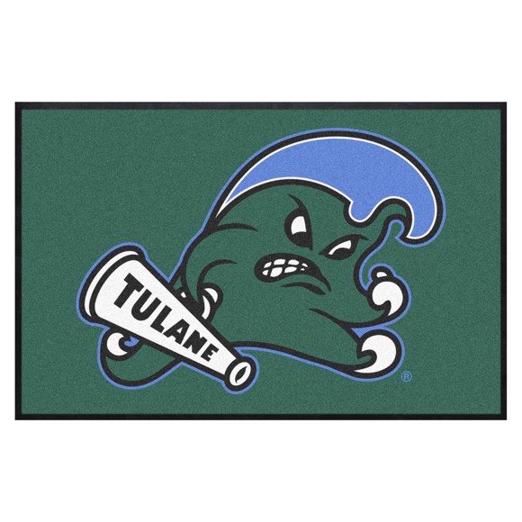 Picture of Tulane 4X6 High-Traffic Mat with Durable Rubber Backing