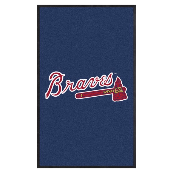 Picture of Atlanta Braves 3X5 High-Traffic Mat with Durable Rubber Backing