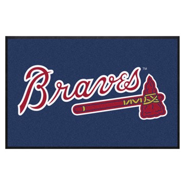 Picture of Atlanta Braves 4X6 High-Traffic Mat with Durable Rubber Backing