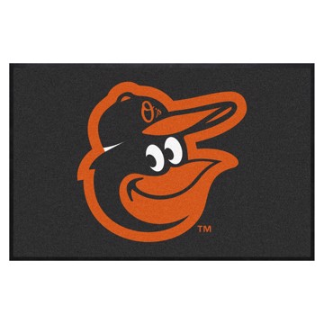 Picture of Baltimore Orioles 4X6 High-Traffic Mat with Durable Rubber Backing