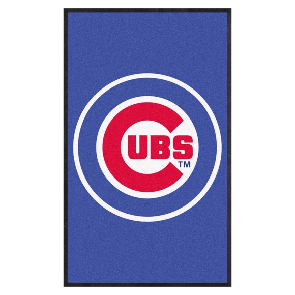 Picture of Chicago Cubs 3X5 High-Traffic Mat with Durable Rubber Backing