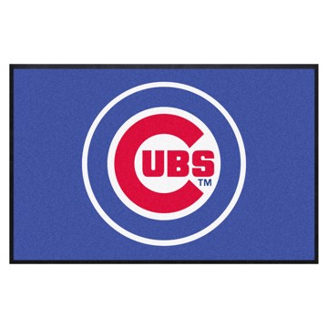 Picture of Chicago Cubs 4X6 High-Traffic Mat with Durable Rubber Backing