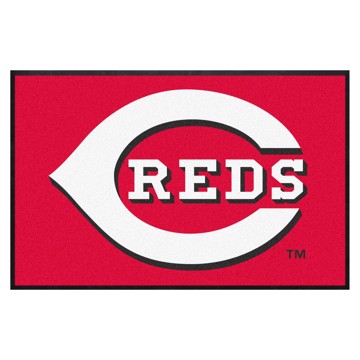 Picture of Cincinnati Reds 4X6 High-Traffic Mat with Durable Rubber Backing