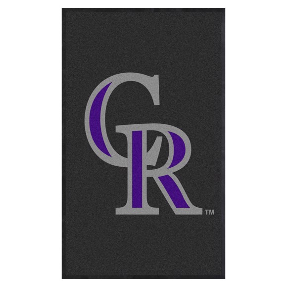 Picture of Colorado Rockies 3X5 High-Traffic Mat with Durable Rubber Backing