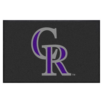 Picture of Colorado Rockies 4X6 High-Traffic Mat with Durable Rubber Backing