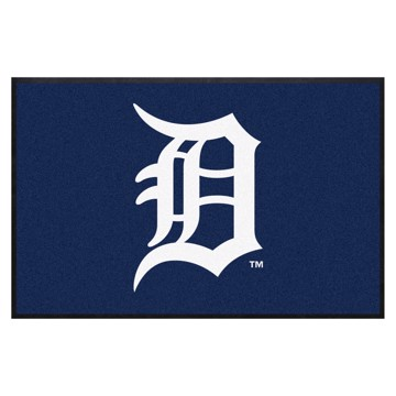 Picture of Detroit Tigers 4X6 High-Traffic Mat with Durable Rubber Backing