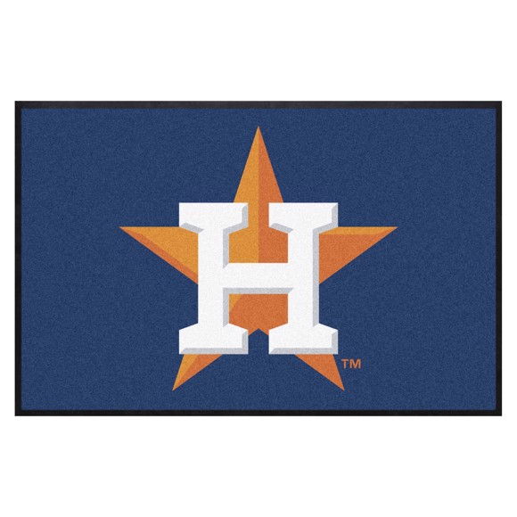 Picture of Houston Astros 4X6 High-Traffic Mat with Durable Rubber Backing