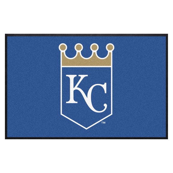 Picture of Kansas City Royals 4X6 High-Traffic Mat with Durable Rubber Backing