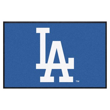 Picture of Los Angeles Dodgers 4X6 High-Traffic Mat with Durable Rubber Backing