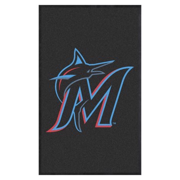 Picture of Miami Marlins 3X5 High-Traffic Mat with Durable Rubber Backing