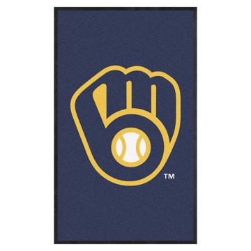 Picture of Milwaukee Brewers 3X5 High-Traffic Mat with Durable Rubber Backing