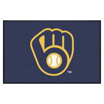 Picture of Milwaukee Brewers 4X6 High-Traffic Mat with Durable Rubber Backing