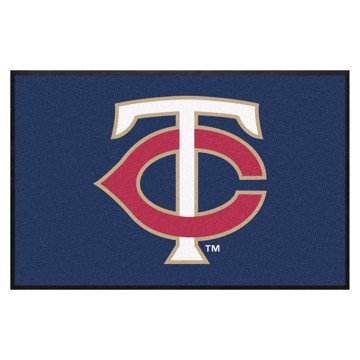 Picture of Minnesota Twins 4X6 High-Traffic Mat with Durable Rubber Backing