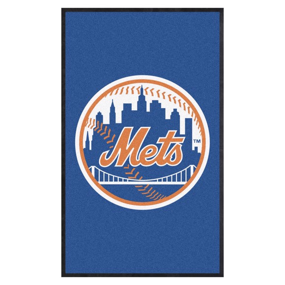 Picture of New York Mets 3X5 High-Traffic Mat with Durable Rubber Backing