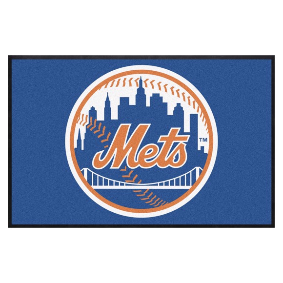 Picture of New York Mets 4X6 High-Traffic Mat with Durable Rubber Backing