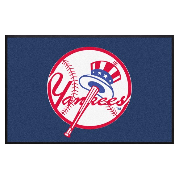 Picture of New York Yankees 4X6 High-Traffic Mat with Durable Rubber Backing