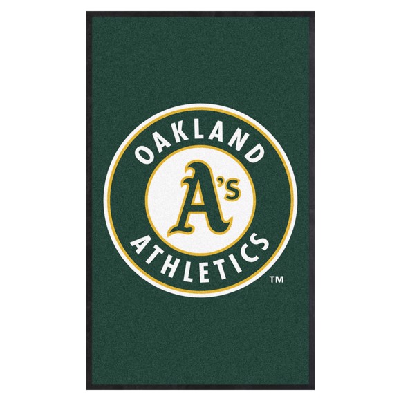 Picture of Oakland Athletics 3X5 High-Traffic Mat with Durable Rubber Backing
