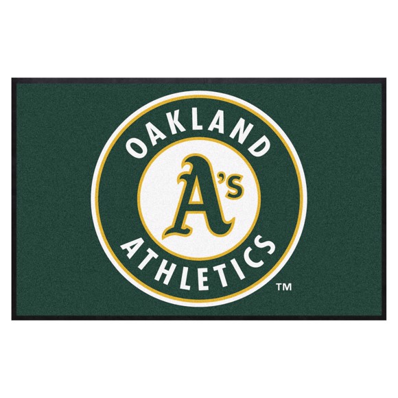 Picture of Oakland Athletics 4X6 High-Traffic Mat with Durable Rubber Backing