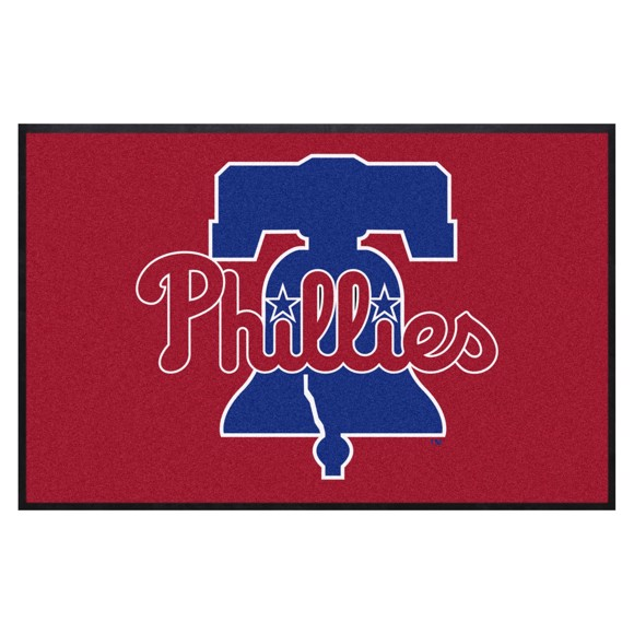 Picture of Philadelphia Phillies 4X6 High-Traffic Mat with Durable Rubber Backing