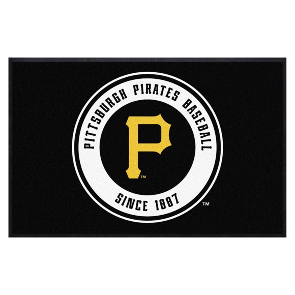 Picture of Pittsburgh Pirates 4X6 High-Traffic Mat with Durable Rubber Backing