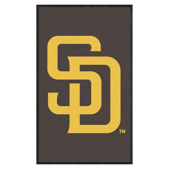 Picture of San Diego Padres 3X5 High-Traffic Mat with Durable Rubber Backing
