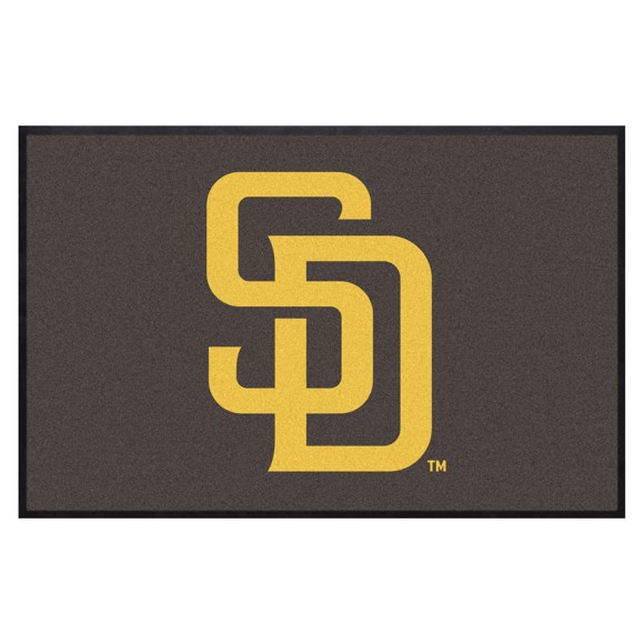 Picture of San Diego Padres 4X6 High-Traffic Mat with Durable Rubber Backing