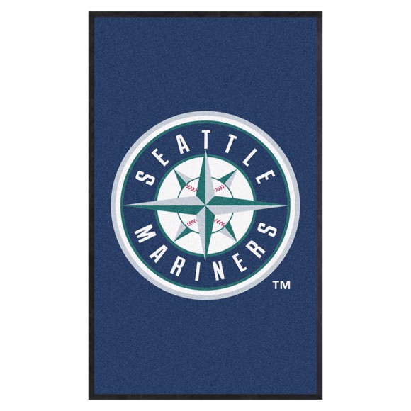 Picture of Seattle Mariners 3X5 High-Traffic Mat with Durable Rubber Backing
