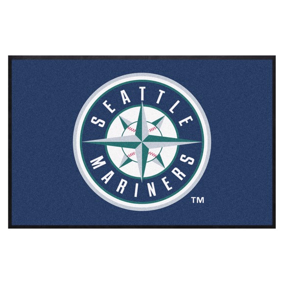 Picture of Seattle Mariners 4X6 High-Traffic Mat with Durable Rubber Backing
