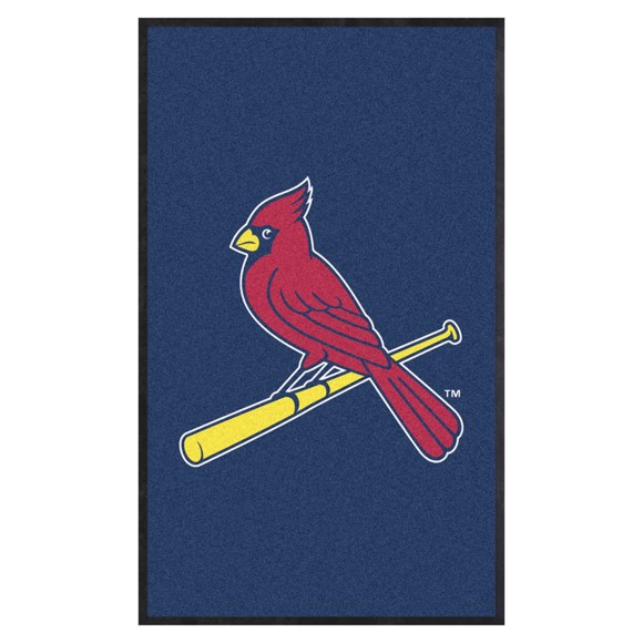Picture of St. Louis Cardinals 3X5 High-Traffic Mat with Durable Rubber Backing