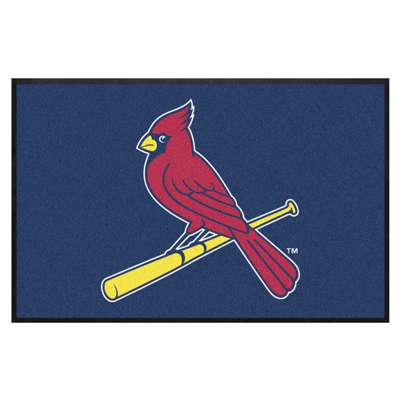 Picture of St. Louis Cardinals 4X6 High-Traffic Mat with Durable Rubber Backing