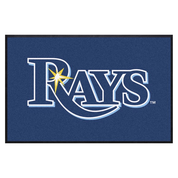 Picture of Tampa Bay Rays 4X6 High-Traffic Mat with Durable Rubber Backing