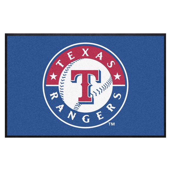 Picture of Texas Rangers 4X6 High-Traffic Mat with Durable Rubber Backing