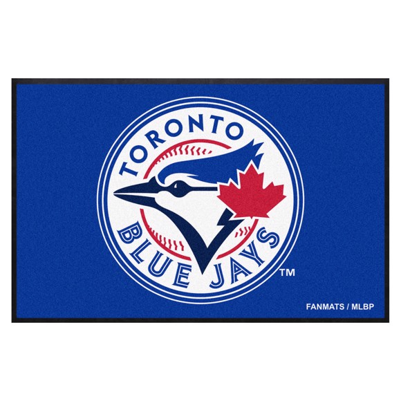 Picture of Toronto Blue Jays 4X6 High-Traffic Mat with Durable Rubber Backing