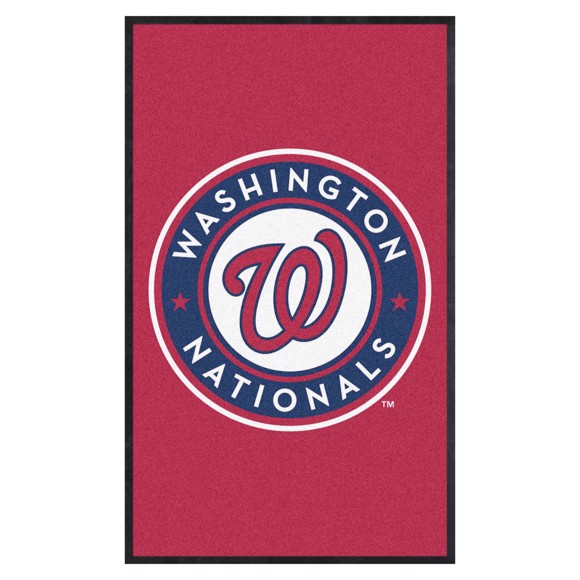 Picture of Washington Nationals 3X5 High-Traffic Mat with Durable Rubber Backing