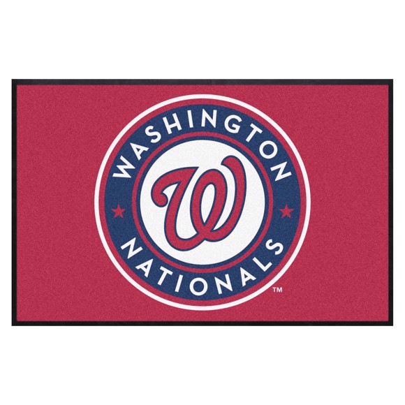 Picture of Washington Nationals 4X6 High-Traffic Mat with Durable Rubber Backing
