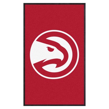 Picture of Atlanta Hawks 3X5 High-Traffic Mat with Durable Rubber Backing