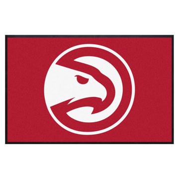 Picture of Atlanta Hawks 4X6 High-Traffic Mat with Durable Rubber Backing