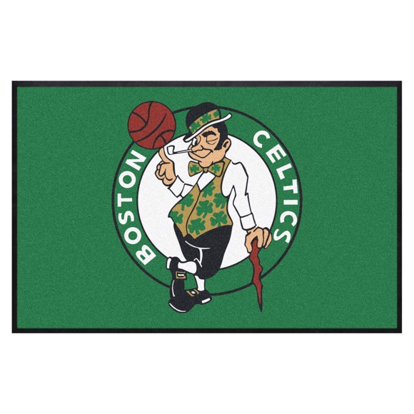Picture of Boston Celtics 4X6 High-Traffic Mat with Durable Rubber Backing
