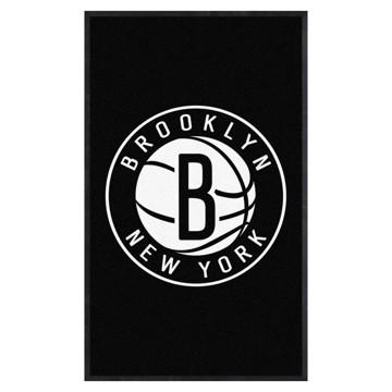 Picture of Brooklyn Nets 3X5 High-Traffic Mat with Durable Rubber Backing