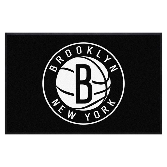 Picture of Brooklyn Nets 4X6 High-Traffic Mat with Durable Rubber Backing