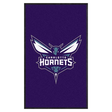 Picture of Charlotte Hornets 3X5 High-Traffic Mat with Durable Rubber Backing