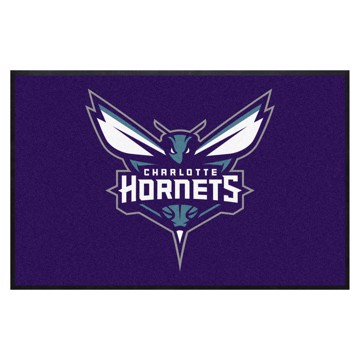 Picture of Charlotte Hornets 4X6 High-Traffic Mat with Durable Rubber Backing