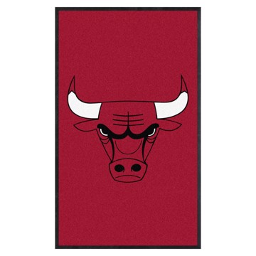 Picture of Chicago Bulls 3X5 High-Traffic Mat with Durable Rubber Backing