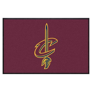 Picture of Cleveland Cavaliers 4X6 High-Traffic Mat with Durable Rubber Backing