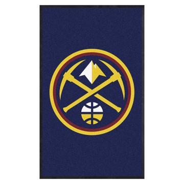 Picture of Denver Nuggets 3X5 High-Traffic Mat with Durable Rubber Backing