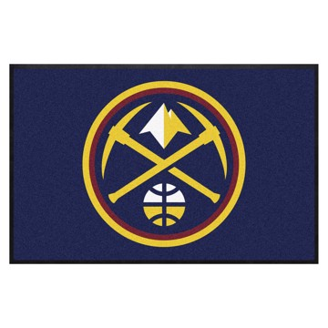 Picture of Denver Nuggets 4X6 High-Traffic Mat with Durable Rubber Backing