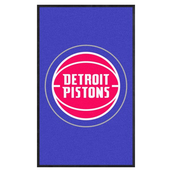 Picture of Detroit Pistons 3X5 High-Traffic Mat with Durable Rubber Backing