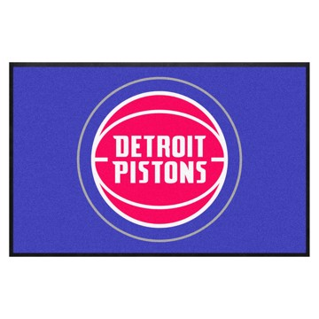 Picture of Detroit Pistons 4X6 High-Traffic Mat with Durable Rubber Backing