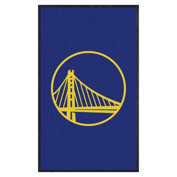 Picture of Golden State Warriors 3X5 High-Traffic Mat with Durable Rubber Backing